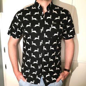 Other - Short Sleeve Button Shirt Rabbit Print Summer
